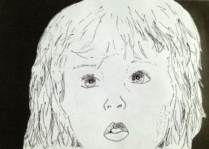 ink drawing of Child by Ella Montgomery
